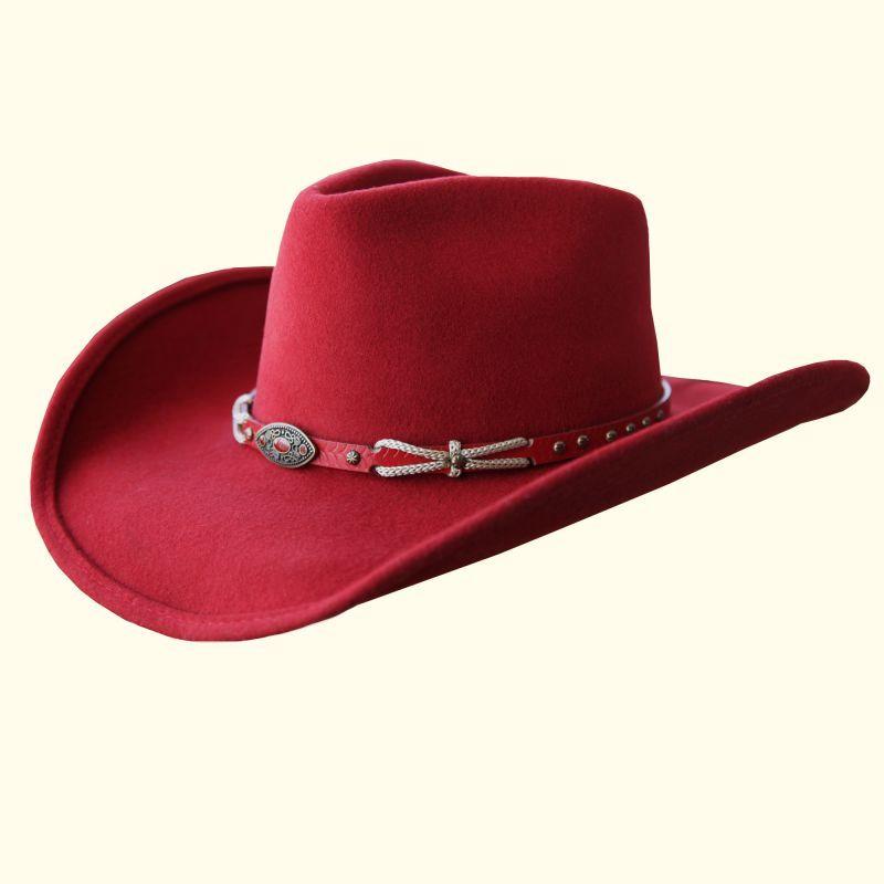 画像1: ブルハイド ウール ウエスタンハット エモーショナリーチャージ(レッド)/Bullhide Western Hat Emotionally Charged(Red)