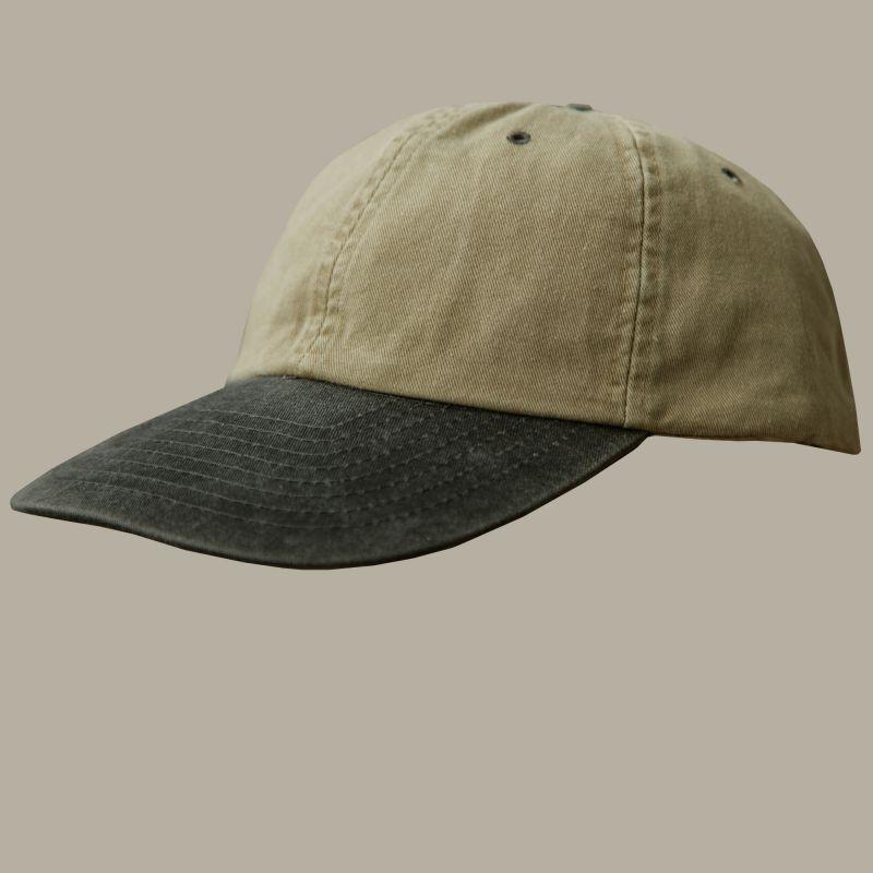 画像1: ウオッシュ コットン キャップ ブラック・カーキ/Baseball Cap