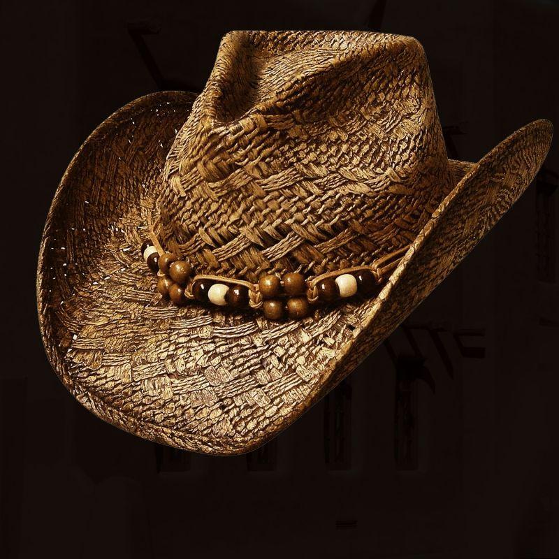 画像1: ウエスタン ストローハット(ピーカン)/Western Straw Hat(Pecan)