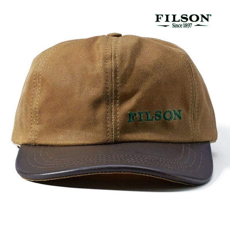 画像1: フィルソン ティンクロス レザー キャップ(ダークタン)/Filson Tin Cloth Leather Cap(Tan)