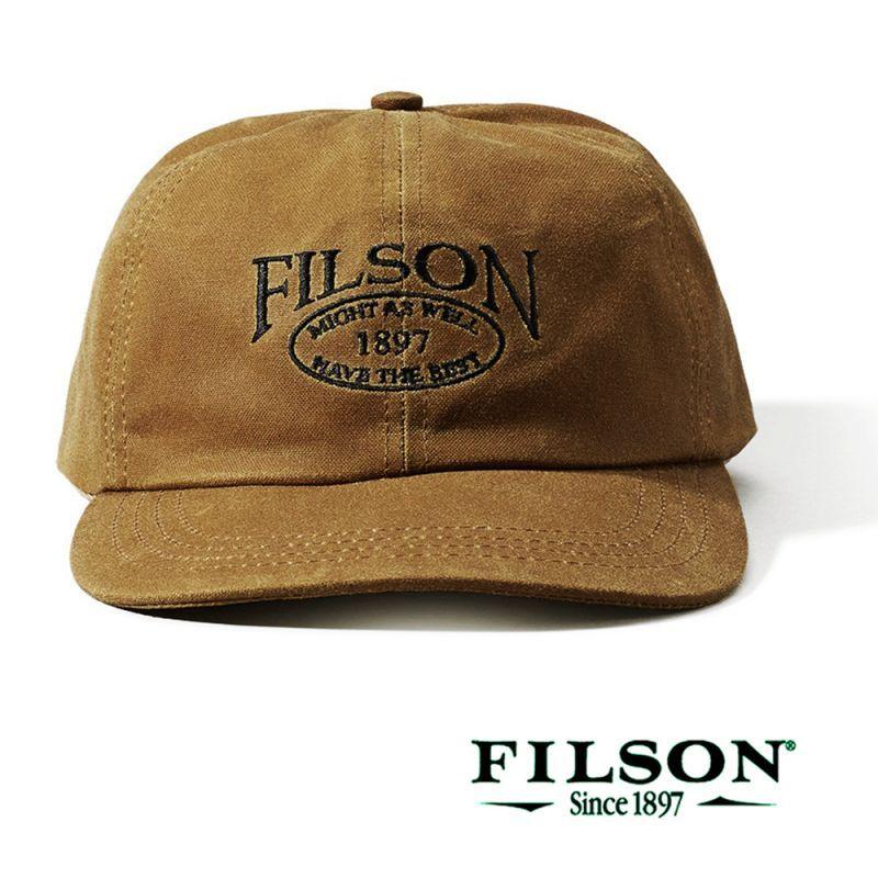 画像1: フィルソン オイルフィニッシュ ティンクロス キャップ(タン)/Filson Tin Cloth Low Profile Cap(Tan)