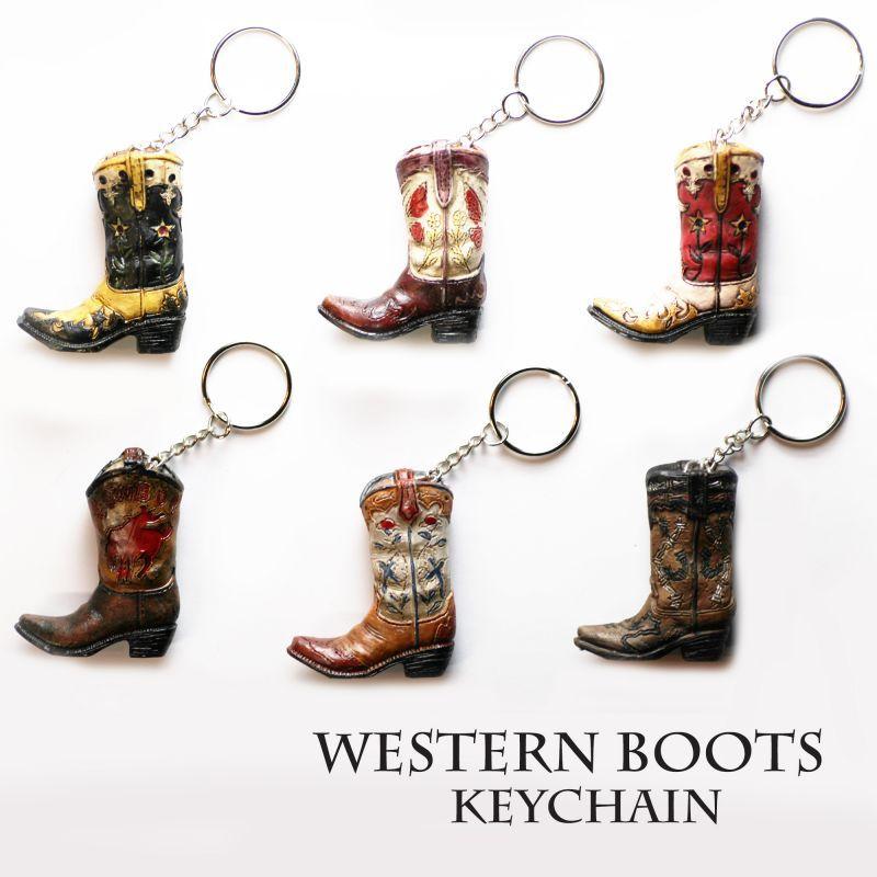 画像1: ウエスタンブーツ キーホルダー/Western Boots Keychain
