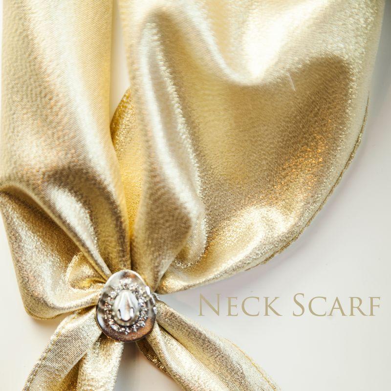 画像1: カウボーイ ネック スカーフ(ゴールド)/Scarf