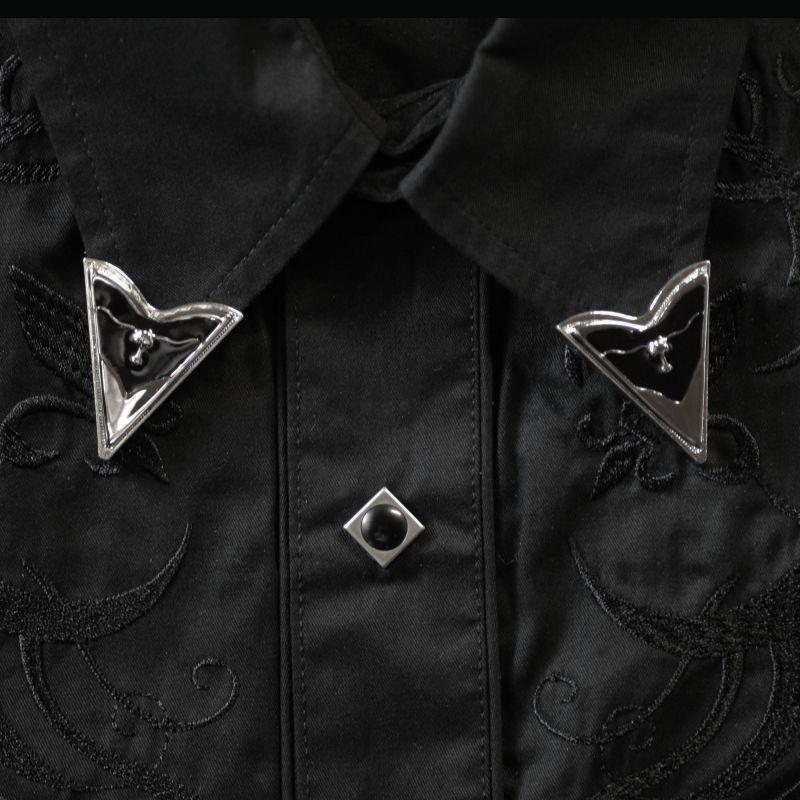 画像1: ウエスタン カラーチップ(ロングホーン)/Collar Tips