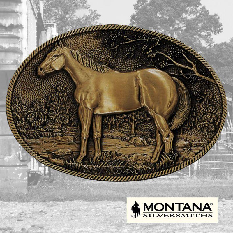 画像1: モンタナシルバースミス ベルト バックル スタンディングホース/Montana Silversmiths Belt Buckle