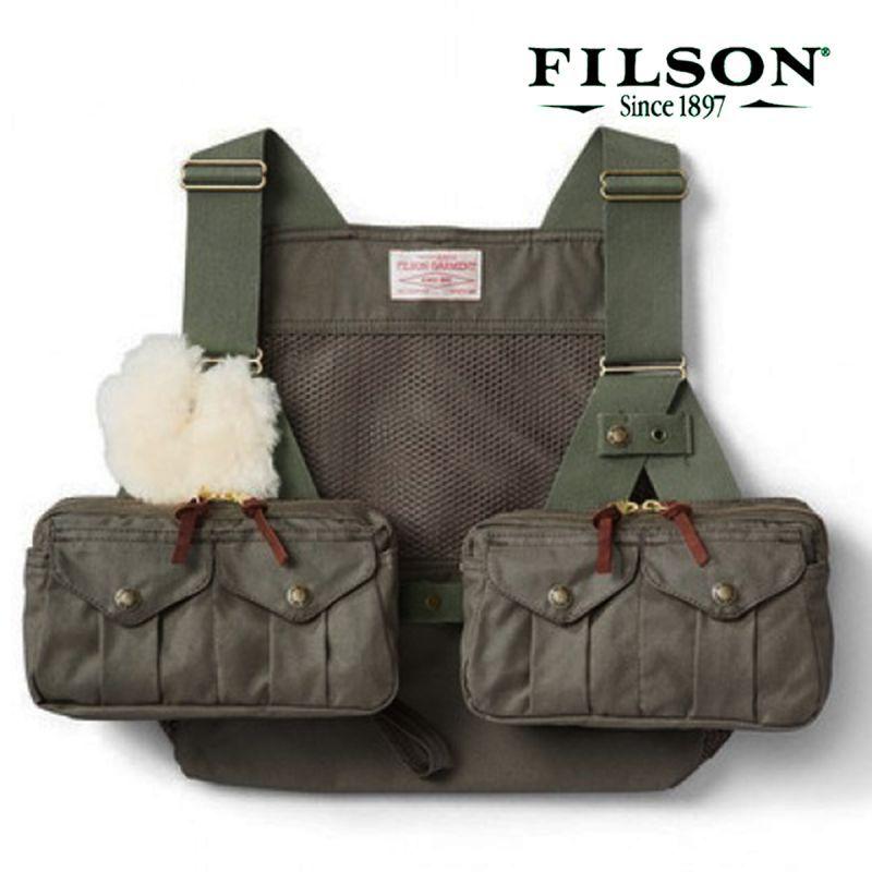 画像1: フィルソン メッシュ フライフィッシング ストラップベスト(オッターグリーン)/Filson Mesh Fly Fishing Strap Vest(Otter Green)
