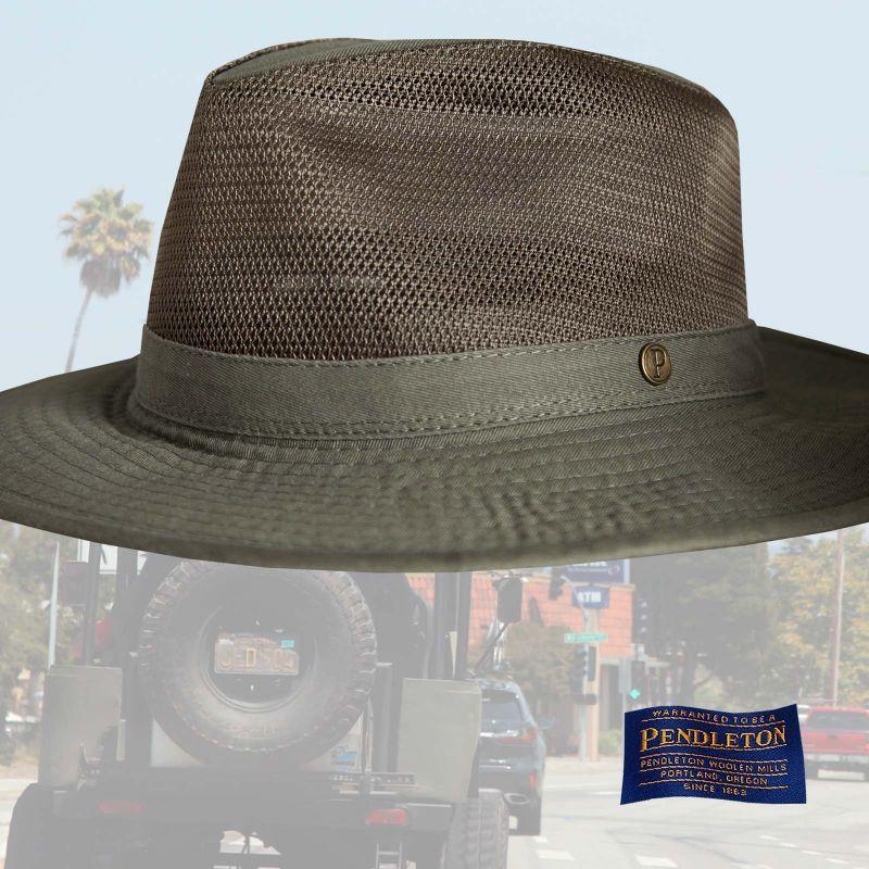 画像1: ペンドルトン ブリーザーハット(オリーブ)/Pendleton Breezer Hat(Olive)