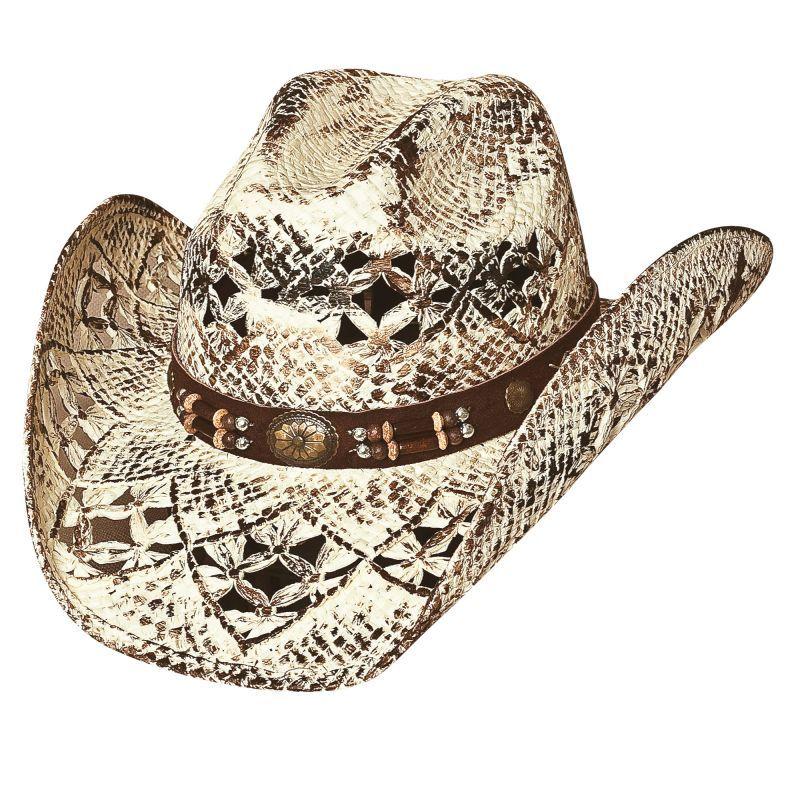 画像1: ウエスタン ストローハット(ナチュラル・ブラウン)M/Straw Hat