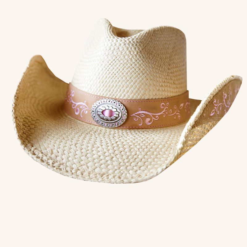 画像1: ブルハイド ウエスタン ストローハット(ビコーズオブユー)/BULLHIDE Western Straw Hat Because of You