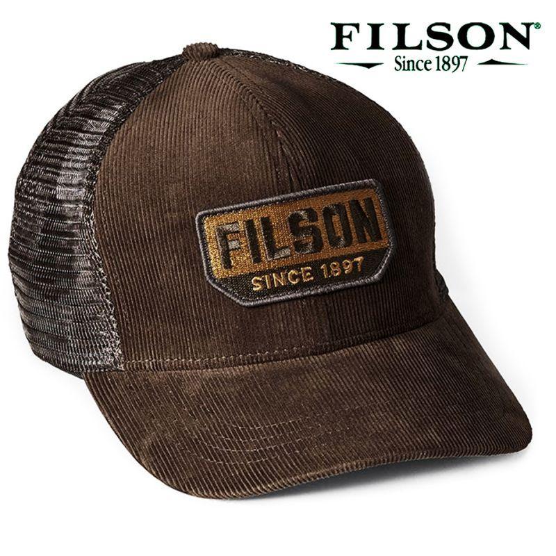 画像1: フィルソン コーデュロイ ロガー メッシュ キャップ(ブラウン)/Filson Corduroy Logger Mesh Cap(Brown)
