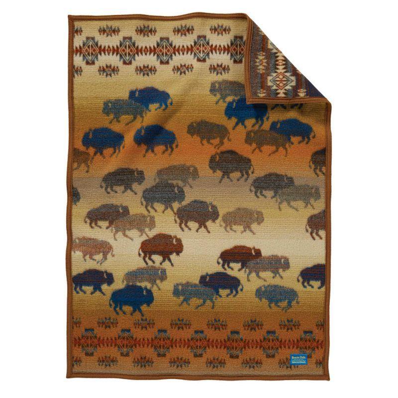 画像1: ペンドルトン ラッシュアワー ムチャチョ ブランケット/Prairie Rush Hour Crib Blanket