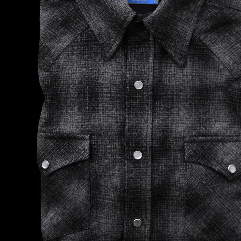 画像2: ペンドルトン  ウエスタンシャツ(ブラック チャコール)/Pendleton Western Shirt(Black Charcoal Shadow Plaid)