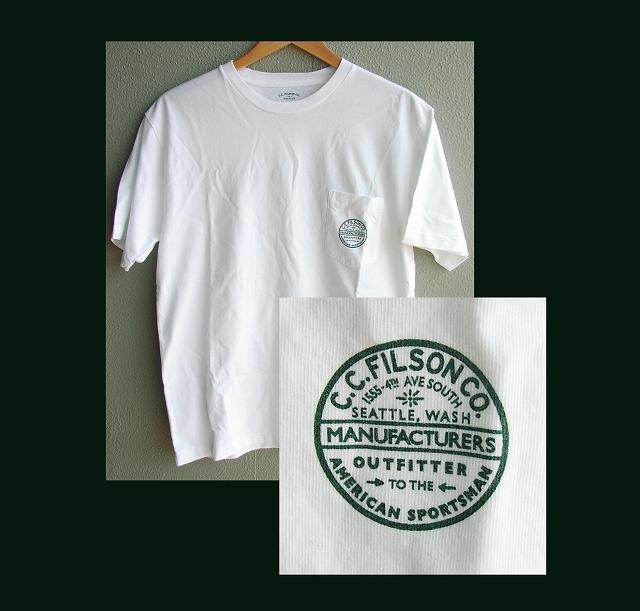 画像1: フィルソン 半袖 Tシャツ トラウト(ホワイト)M/Filson T-shirt Trout Print(American Sportsman)