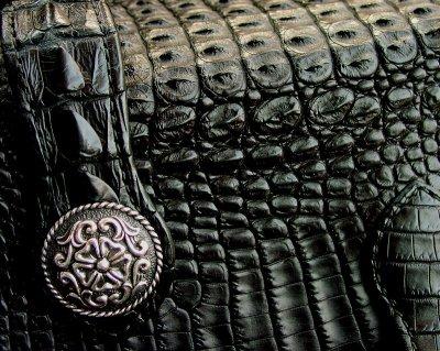 画像2: ファニー ライダースウォレット(ホーンバックナイルクロコダイル・ブラック/VICTOR37MM・SLOW265000)/Funny Rider's Wallet(Horn Back Nile Crocodile・Black/925Silver)