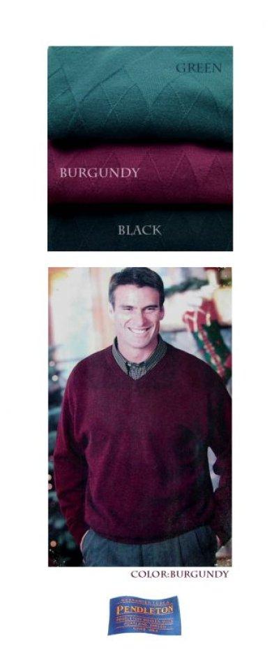 画像2: ペンドルトン クルーネック ウールセーター(バーガンディー)/Pendleton Crewneck Wool Sweater