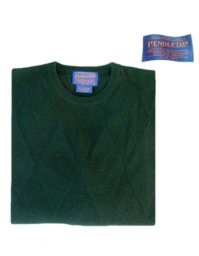 画像1: ペンドルトン クルーネック ウールセーター(グリーン)/Pendleton Crewneck Wool Sweater