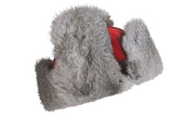 画像2: マッド ボンバー ハット 帽子 (ラビット ファー&ウール  レッド×ブラック=バッファローチェック)/Mad Bomber Hat(Wool)