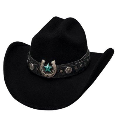 画像1: ブルハイド ウール ウエスタンハット アゲインストオールオッズ(ブラック)/Bullhide Western Hat(Against All Odds/Black)