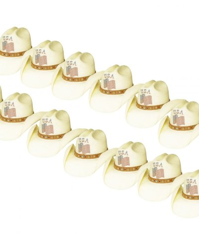 画像3: オンリーインアメリカ レザーバンド ストローハット(ナチュラル)/Western Straw Hat(Only In America)