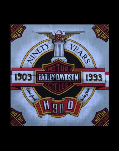 画像2: ハーレーダビッドソン バンダナ(90Years 1903-1993)/Harley Davidson Bandana