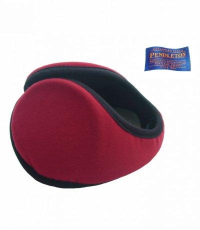 画像1: ペンドルトン イヤーウォーマー・100%ヴァージン ウール イアースナグ(レッド)/Pendlton Ear Snugs(Red)