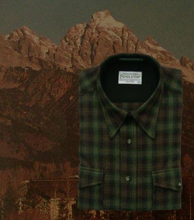 画像1: ペンドルトン アウトドア シャツ(グリーン プラッド)XL/Pendleton Outdoor Shirt