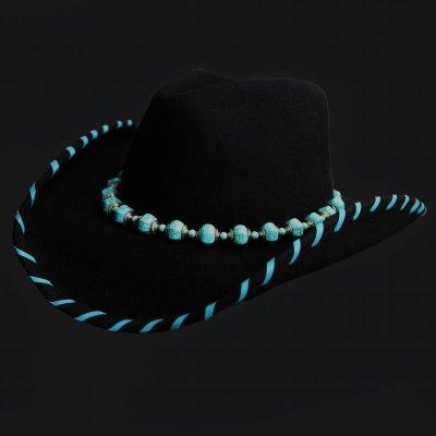 画像1: ウール ウエスタンハット ターコイズレジェンド(ブラック)/Western Hat(Black)