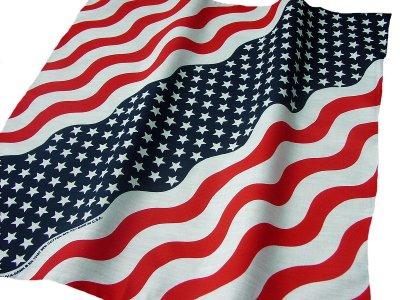 画像1: バンダナ(アメリカ国旗・ウェーブ)/Bandana US Flag Wave