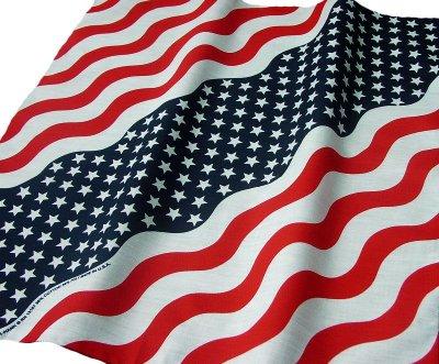 画像2: バンダナ(アメリカ国旗・ウェーブ)/Bandana US Flag Wave