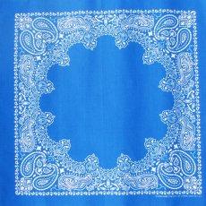 画像1: バンダナ ハバハンク HAV-A-HANK ペイズリー(ブルー・ホワイト)/Bandana Paisley  Blue White (1)