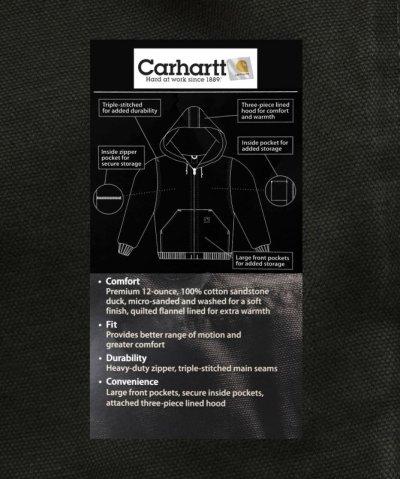 画像3: カーハート サンドストーン アクティブ ジャケット カーハートブラウン アイオワホークアイズM/Carhartt Sandstone Active Jacket