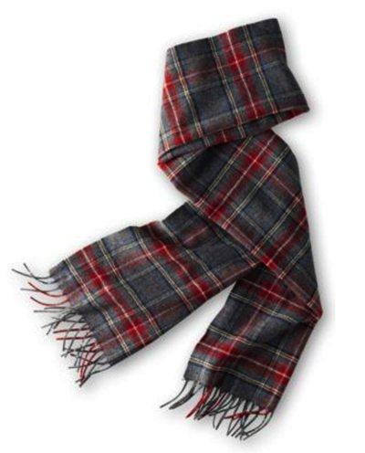画像1: ペンドルトン ピュアバージンウール マフラー(スチュワート チャコール タータン)/Pendleton Pure Virgin Wool Muffler(Stewart Charcoal Tartan)