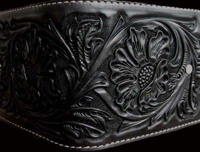 画像2: ファニー コインヘッド ビルフォード ハンドクラフト・Hand Craft(Black)/Funny Coin Head Billfold