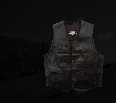 画像2: ウエスタン レザー ベスト(ブラック)/Western Leather Vest(Black)