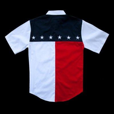 画像2: スカリー USA 刺繍シャツ(メンズ 半袖/アメリカンフラッグ)/Scully Short Sleeve Western Shirt