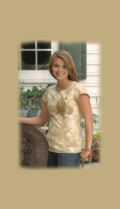 画像1: ホースデザイン 半袖Tシャツ(クリーム・レディース)/Horse Shortsleeve T-shirt(Cream・Women's)