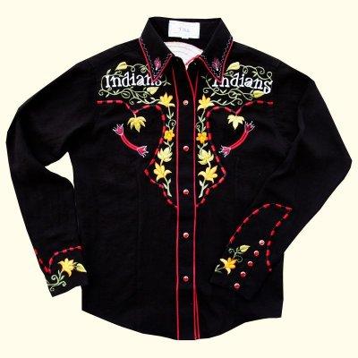 画像1: カサデリアン ウエスタン シャツ・カウガールシャツ(長袖)/Casa de Lien Long Sleeve Western Shirt(For Women)