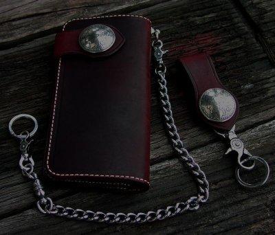 画像3: ファニー ライダースウォレット(レッド)/Funny Rider's Wallet 1$Morgan(Red)