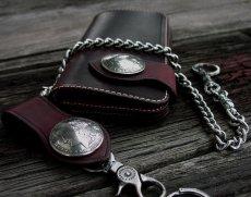 画像2: ファニー ライダースウォレット(レッド)/Funny Rider's Wallet 1$Morgan(Red) (2)