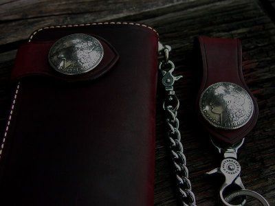 画像2: ファニー ライダースウォレット(レッド)/Funny Rider's Wallet 1$Morgan(Red)