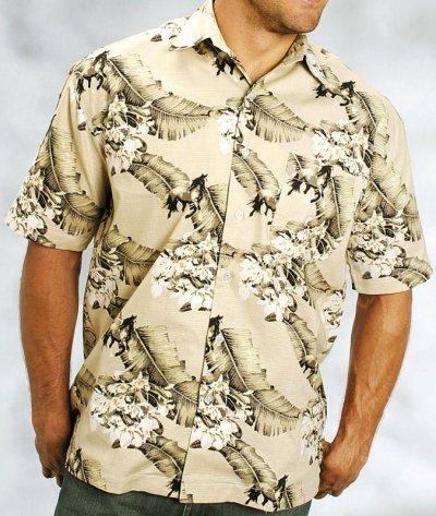 画像1: キャンプ シャツ(サンド/半袖)M/Short Sleeve Camp Shirt