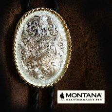 画像1: モンタナシルバースミス ボロタイ エングレーブ/Montana Silversmiths Bolo Tie (1)