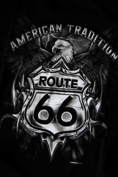 画像2: ルート66 半袖Tシャツ(ブラック・イーグル)/Route 66 T-shirt