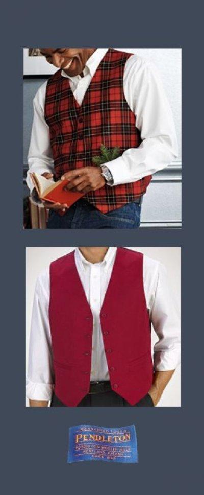 画像1: ペンドルトン リバーシブル ベスト/Pendleton Vest(The Clan Brodie)