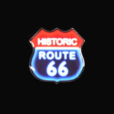 画像1: ルート66 ピンバッジ ネオンサイン/Pin Route66