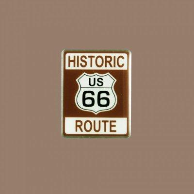 画像1: ルート66 ピンバッジ ヒストリック・ブラウン/Pin Route66