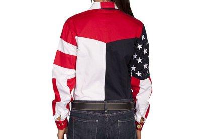 画像2: スカリー USA アメリカ国旗シャツ(長袖/アメリカンフラッグ)/Scully Western Shirt(Women's)