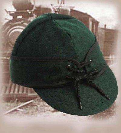 画像1: アメリカン レイルロード キャップ(リバーシブル グリーン/グリーン・オレンジ)/Railroad Cap(Green/Green Orange)