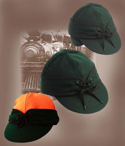 画像2: アメリカン レイルロード キャップ(リバーシブル グリーン/グリーン・オレンジ)/Railroad Cap(Green/Green Orange)