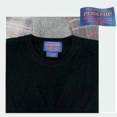 画像1: ペンドルトン クルーネック ウールセーター(ブラック)/Pendleton Crewneck Wool Sweater (1)